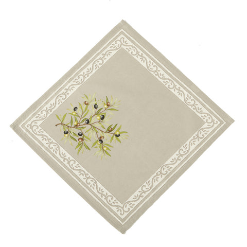 Clos des Oliviers Taupe French Napkin