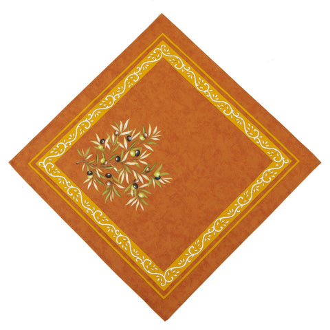 Clos des Oliviers Orange French Napkin