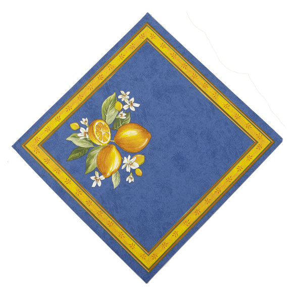 Citrons Bleu French Napkin