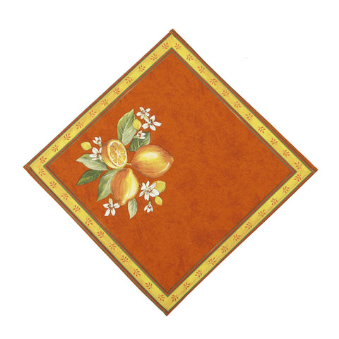 Citrons Orange French Napkin