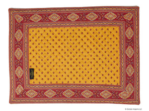 Esterel Safran Bordered Place Mat