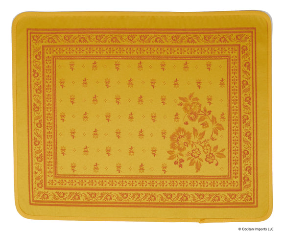 Durance Yellow Jacquard Place Mat