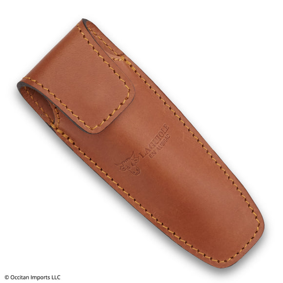 Brown Leather Belt Sheath, Laguiole en Aubrac