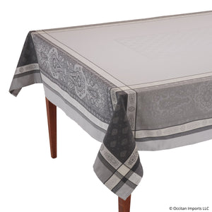 Vaucluse Gray Jacquard French Tablecloth