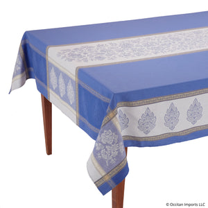 Caprice Bleu Jacquard Tablecloth