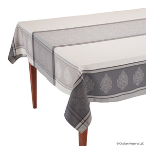 Caprice Gris Jacquard Tablecloth