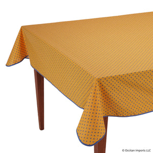 Esterel Jaune/Bleu Rectangular French Tablecloth
