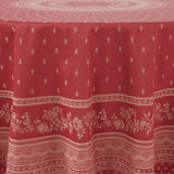 Durance Red Jacquard Round French Tablecloth