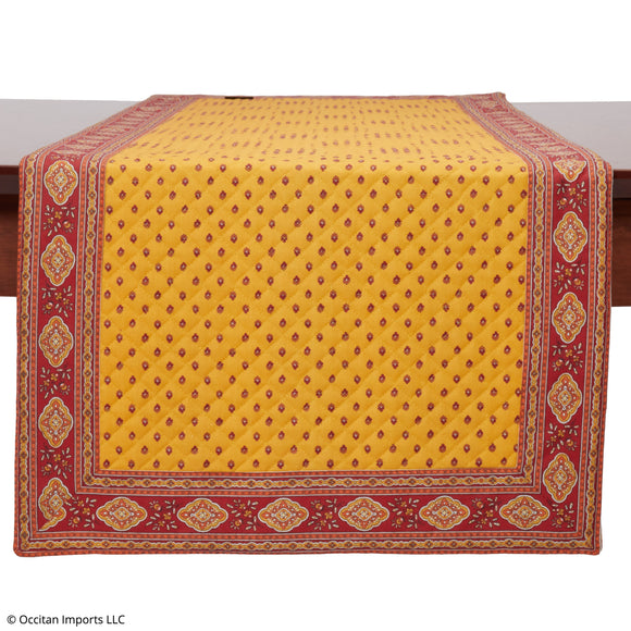 Esterel Safran French Table Runner