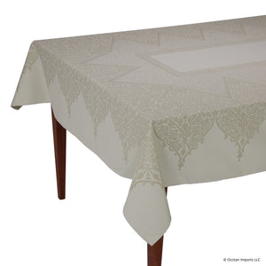 Valentine Naturel Jacquard French Tablecloth
