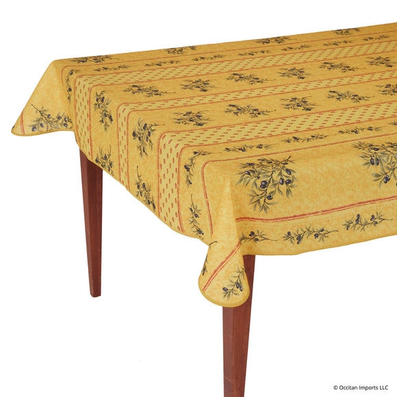 Olivou Yellow Rectangular Easy Care Tablecloth