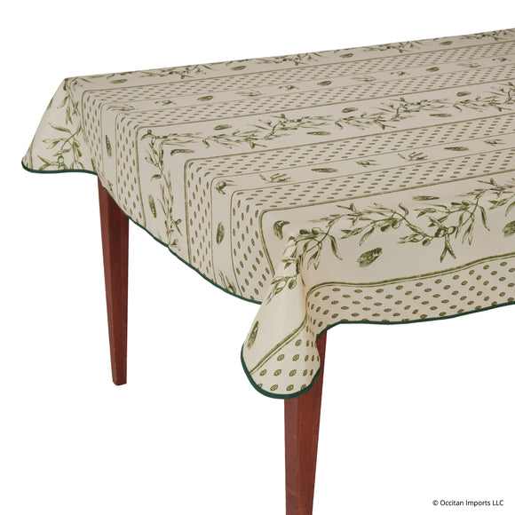 Cigale Green Rectangular Easy Care Tablecloth