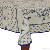 Cigale Blue Rectangular Easy Care Tablecloth