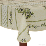 Olivou Beige Rectangular Easy Care Tablecloth