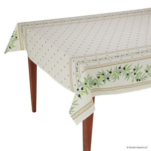 Ramatuelle Ecru Rectangular French Tablecloth