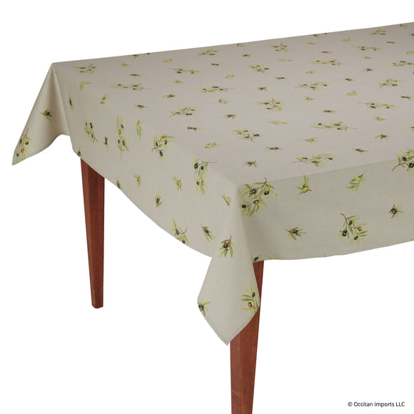 Clos des Oliviers Ficelle All Over Rectangular French Tablecloth