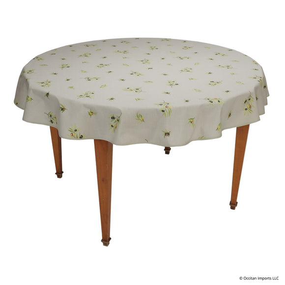 Clos des Oliviers Ficelle All Over Round French Tablecloth