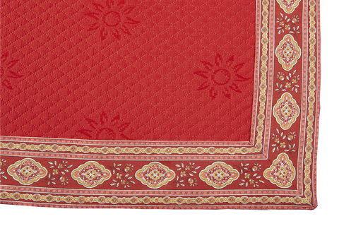 Esterel Ecru/Bordeaux Pique Rouge French Table Runner