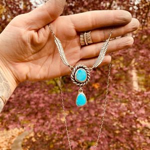 Kingman feather necklace