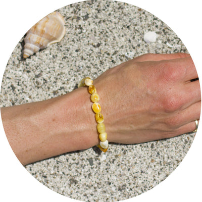 Adult Amber Bracelet Bean - Butterscotch