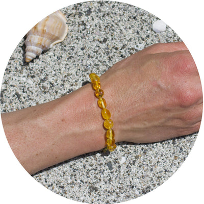 Adult Amber Bracelet Bean - Lemon