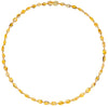 Adult Amber Necklace Bean - Lemon