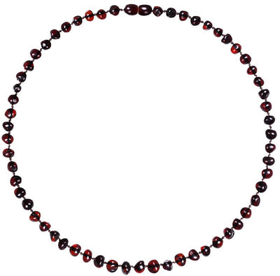 Adult Amber Necklace Bud - Dark Cherry