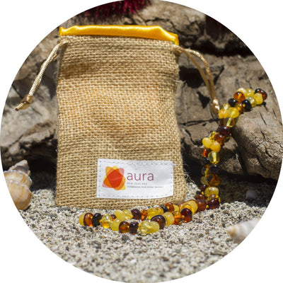 Adult Amber Necklace Bud - Cognac