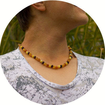 Adult Amber Necklace Raw - Mixed