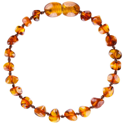 Baby Amber Anklet- Cognac