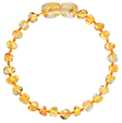 Baby Amber Anklet- Honey