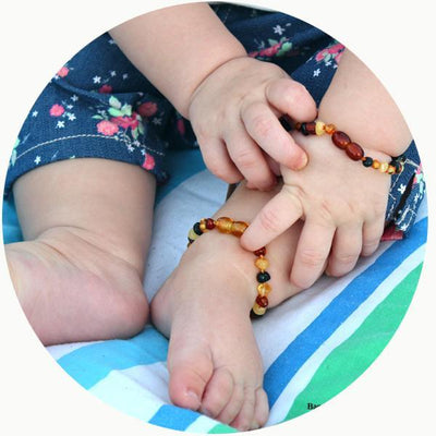 Baby Amber Anklet- Mixed