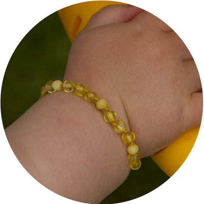 Baby Amber Bracelet Premium - Golden Butterscotch