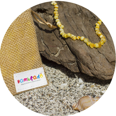 Baby Amber Teething Necklace - Butterscotch