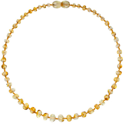 Baby Amber Teething Necklace - Lemon