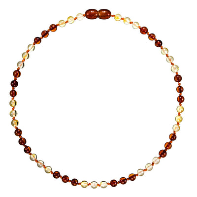 Baby Amber Necklace Premium - Lemon Cognac