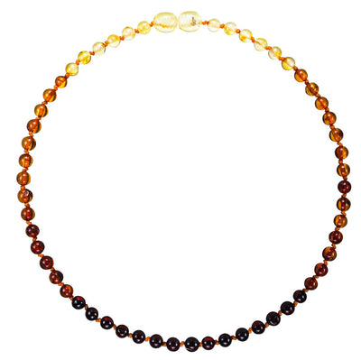 Child Amber Necklace Premium - Rainbow