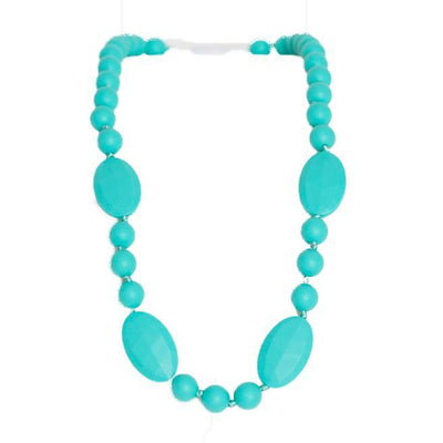 Silicone Teething Necklace - Amalie Shape - Turquoise