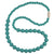 Silicone Teething Necklace, Round Bead - Turquoise