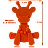 baby silicone teething toy - orange