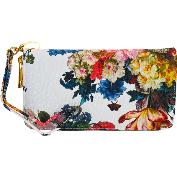 Witchy Poo's Floral Zip Around Wallet/Wristlet