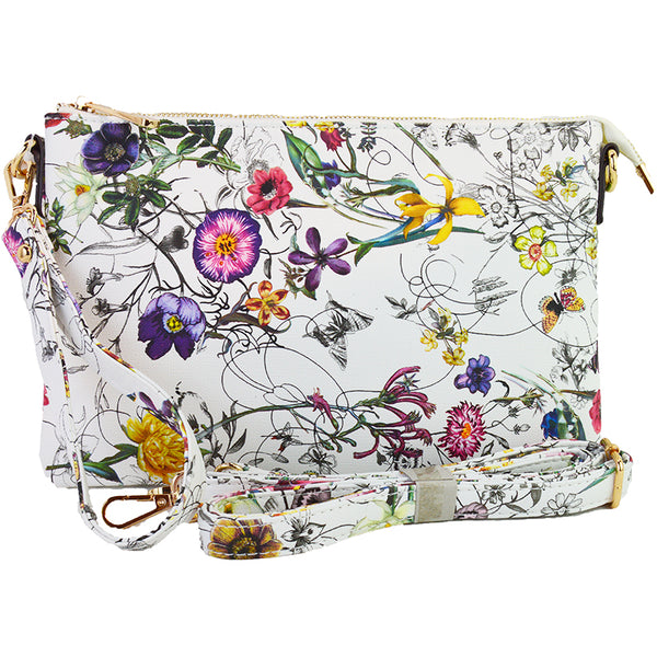 Witchy Poo's  Bright Floral Clutch