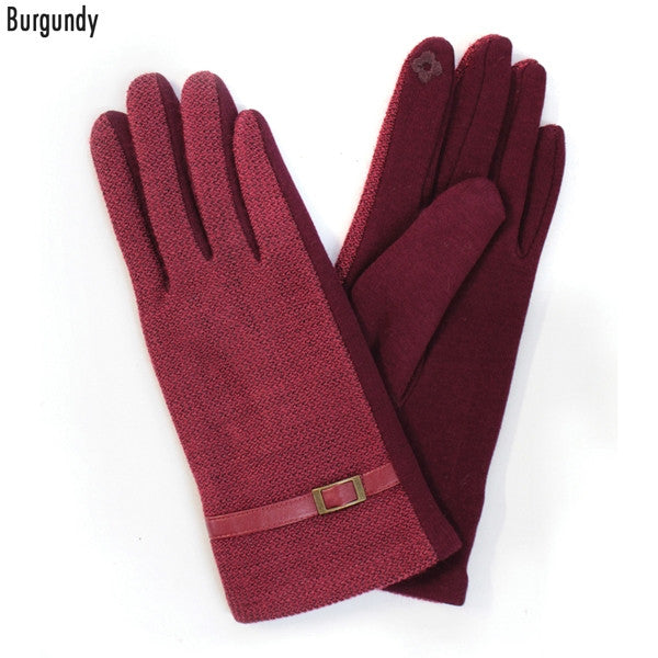 Copy of Witchy Poo's Burgandy Buckle Glove