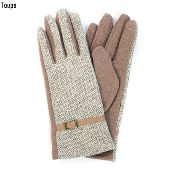 Witchy Poo's Taupe Buckle Glove