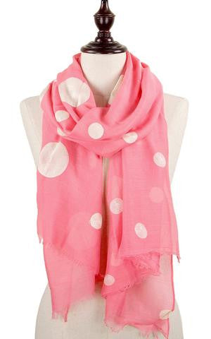 Witchy Poo's Coral Pink & White Polka Dot