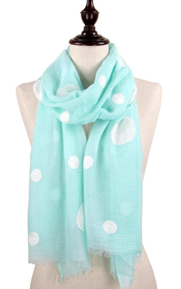Witchy Poo's Mint & White Polka Dot