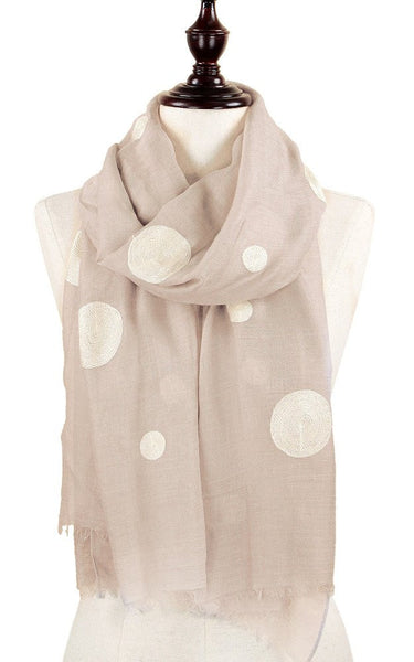 Witchy Poo's Taupe & White Polka Dot