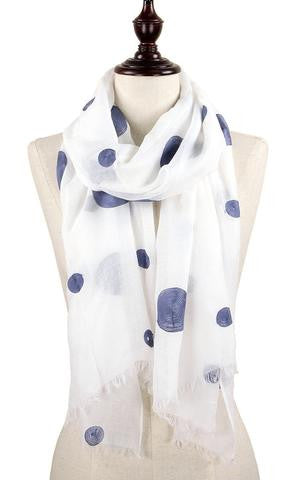 Witchy Poo's White & Blue Polka Dot