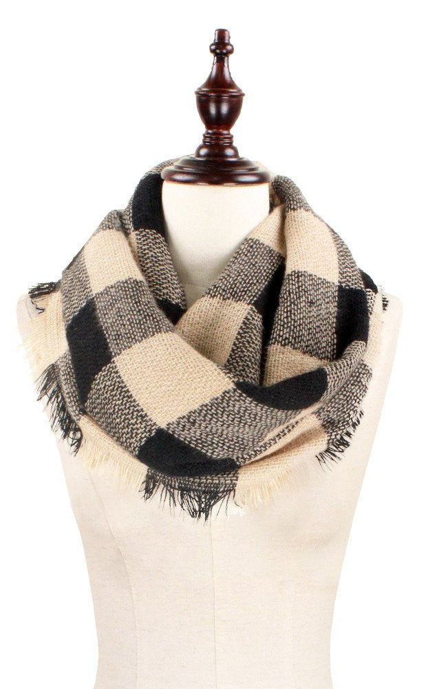 Witchy Poo's Wide Plaid Infinity Scarf