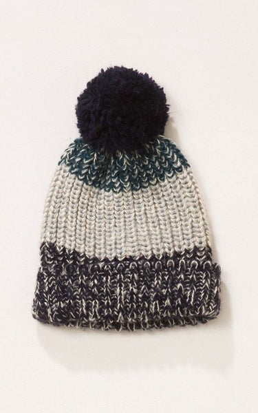 Witchy Poo's  Navy Team Pom Pom Hat